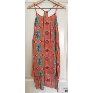 Urban Outfitters Lush slip dress with Aztec Print